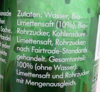 LemonAid, Limette - Ingrédients