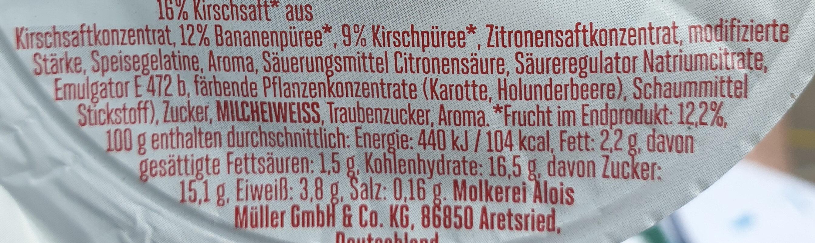 Froop Kirsch Banane - Ingredients - de