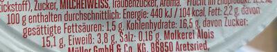 Froop Kirsch Banane - Nutrition facts - de