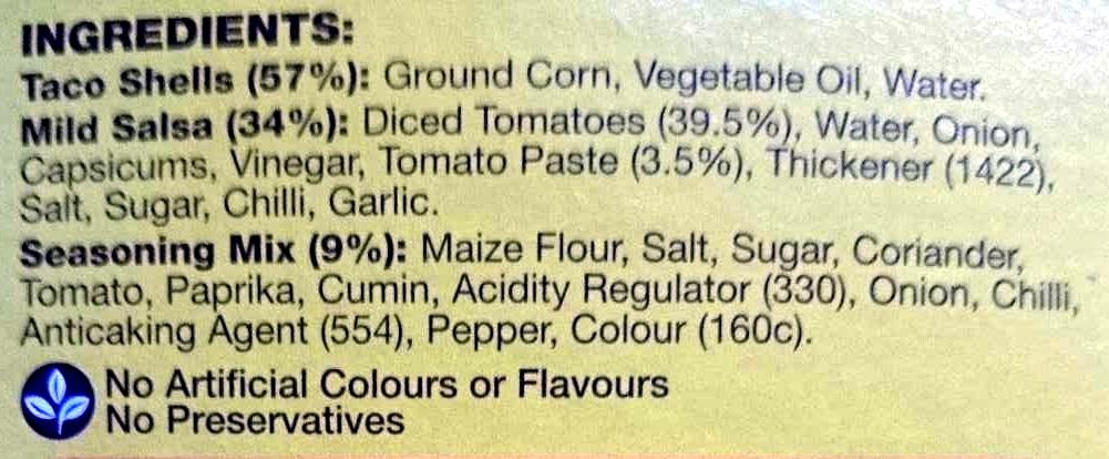 Taco Kit - Ingredients