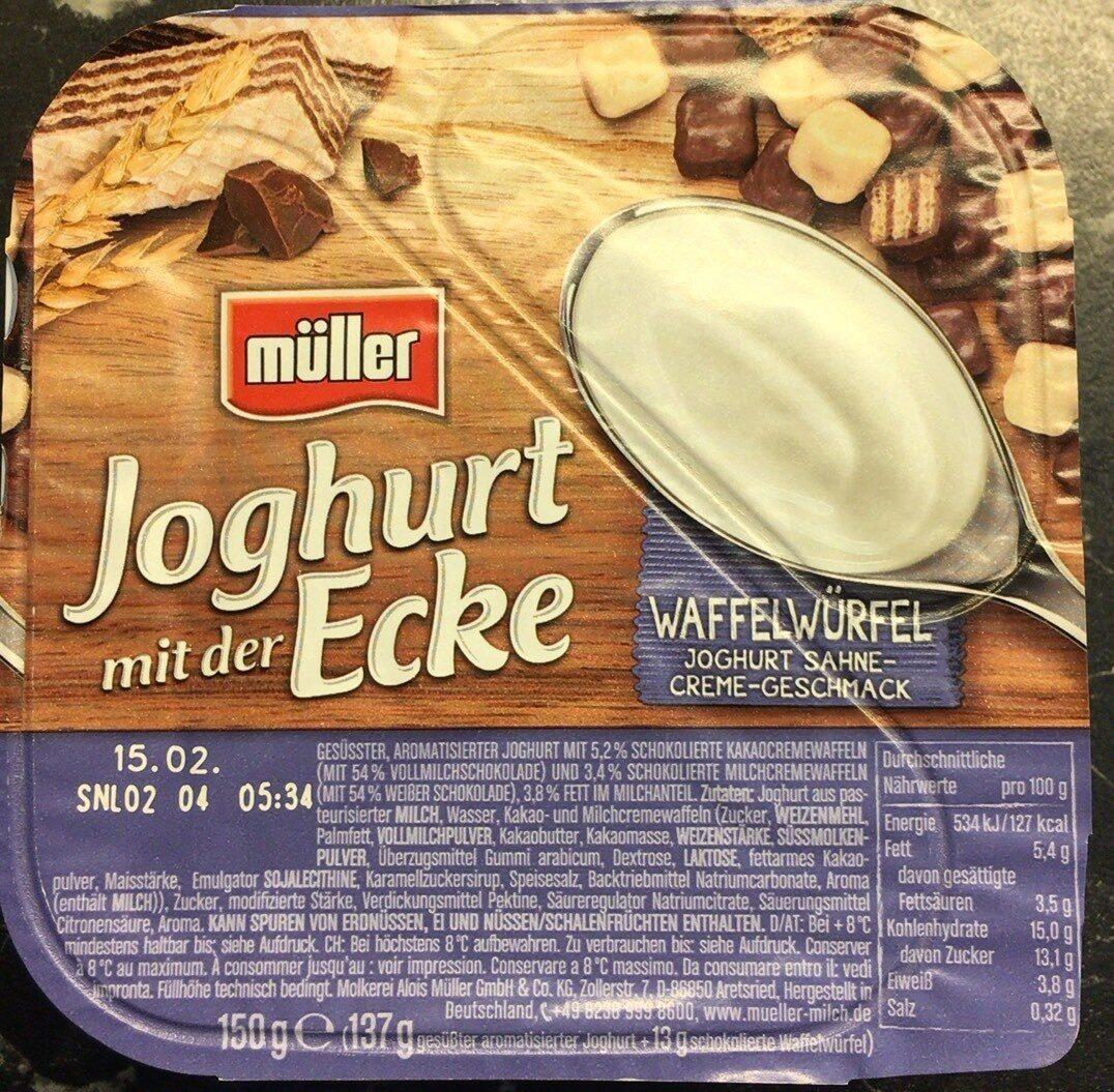 Jogurt mit der ecke waffelwürfel - Produkt - de