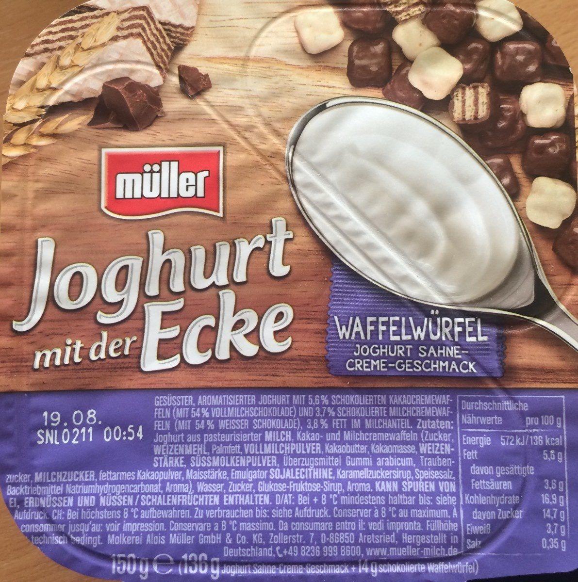 Joghurt mit der Ecke Waffelwürfel - Produit - fr