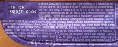 Joghurt mit der Ecke Waffelwürfel - Ingrédients - fr