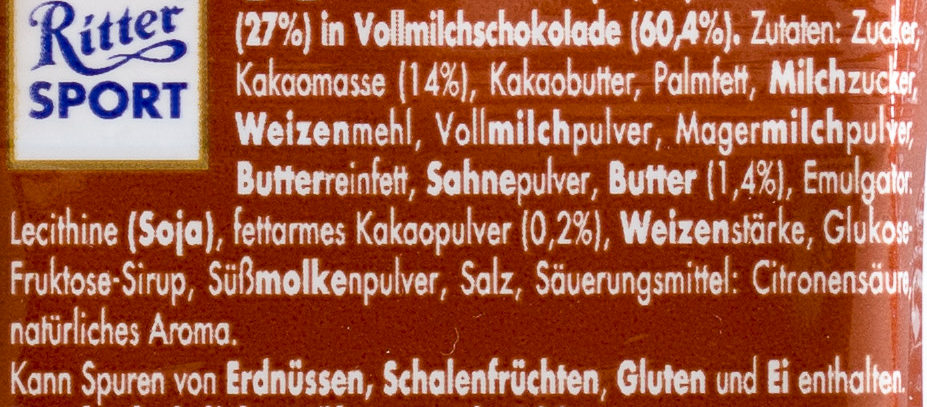 Ritter Sport Kakao Keks 16 67 G