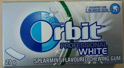 Wrigley's Orbit Professional White Chewing Gum - Spearmint - Produit - fr