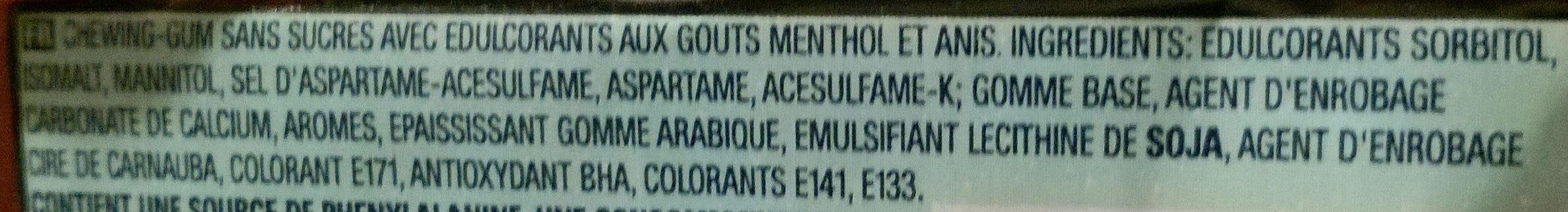 Black Menthol - Ingredients
