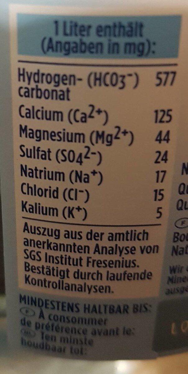 Gerolsteiner Naturell - Informazioni nutrizionali - de