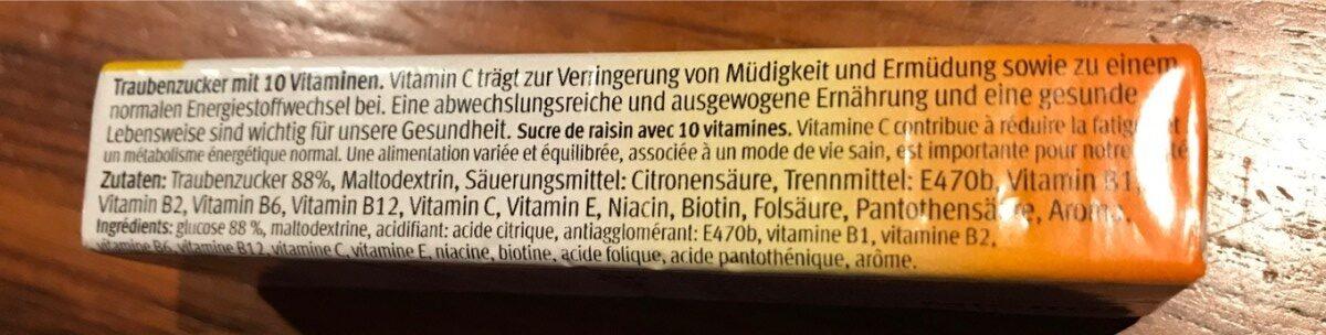 Dextrose : Multi-Vitamin - Ingredients - fr