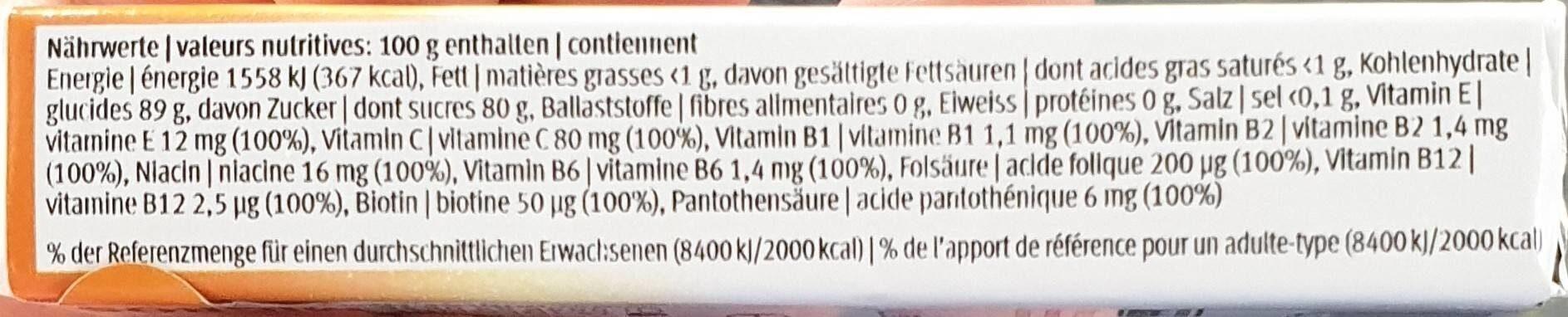 Dextrose : Multi-Vitamin - Nutrition facts - fr