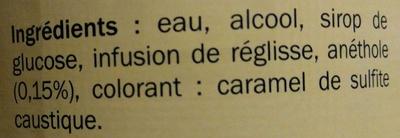 Pastis - Ingredients - fr