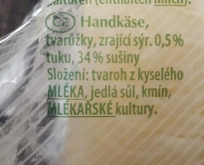 Handkäse - Ingrédients - cs
