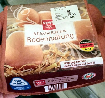 Frische Eier aus Bodenhaltung - Produit - de