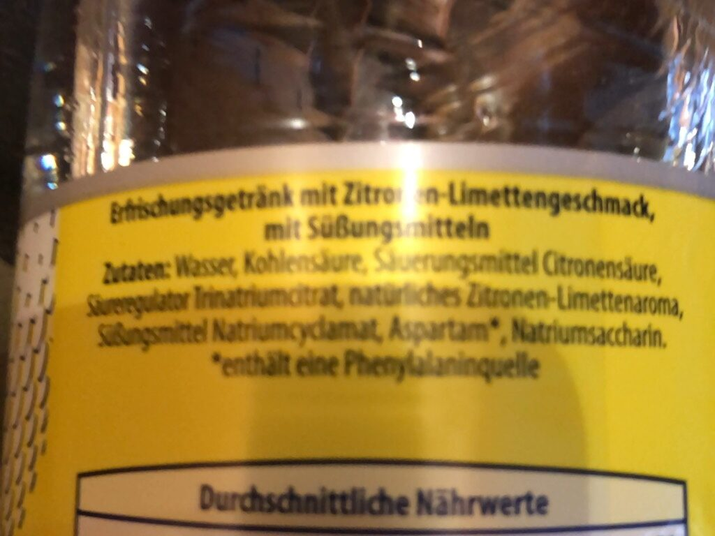 Zitrone0% Zucker Kopie - Ingredients - de