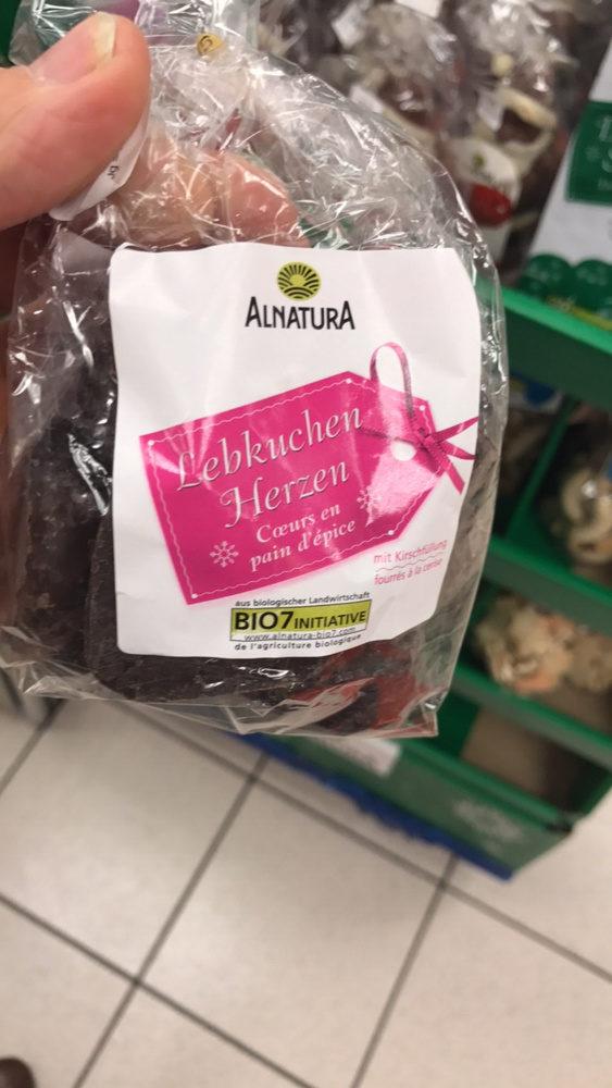 Bio Cæurs en Pain d'épice Fourrés à la Cerise - Product