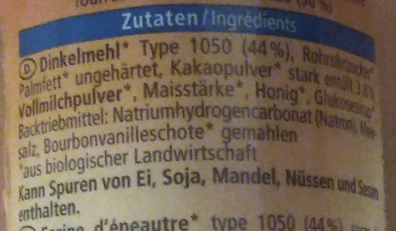 Dinkel Doppel Keks - Ingredients
