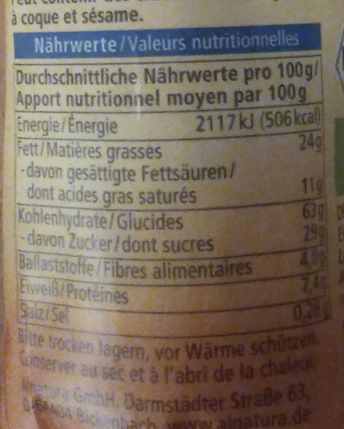 Dinkel Doppel Keks - Nutrition facts