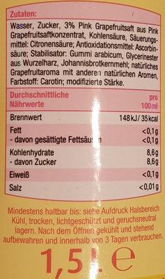 Breeza Pink Grapefruit - Inhaltsstoffe