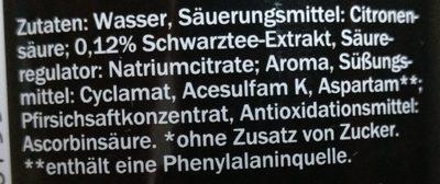 Eistee Zero Pfirsich - Inhaltsstoffe