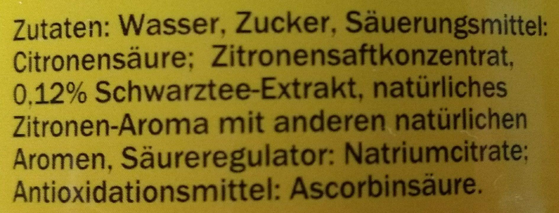 Eistee Zitrone - Inhaltsstoffe