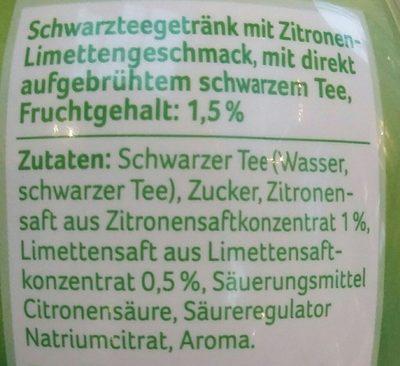 Eistee zitrone-limette - Ingredienti - fr