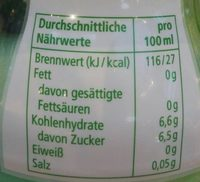Eistee zitrone-limette - Valori nutrizionali - fr