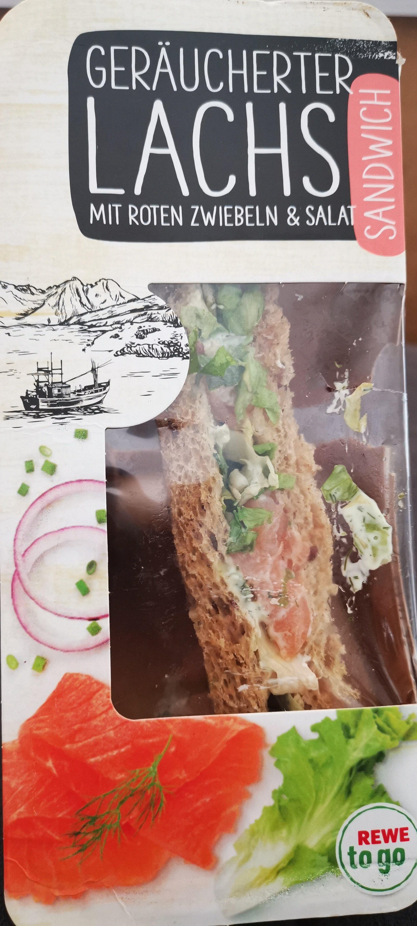 Sandwich geräucherter Lachs - Product - de