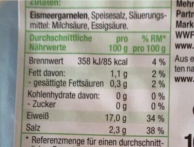 Eismeer Garnelen - Nährwertangaben - de