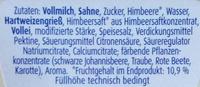 Grießpudding Himbeere - Zutaten - de