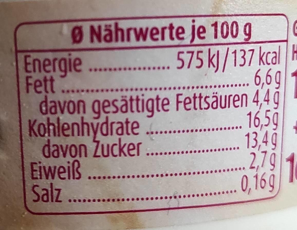 Grießpudding Himbeere - Nährwertangaben - de