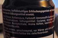 Cola Zero - Ingredienti - de