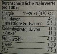 Getrocknete Tomaten - Nutrition facts - de