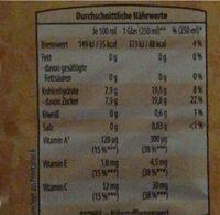 ACE Drink - Voedingswaarden - de