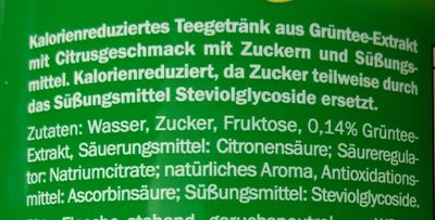 Eistee Green Citrusgeschmack - Inhaltsstoffe