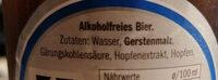 Perlenbacher  Extra Herbes Alkoholfrei - Ingredienti - de