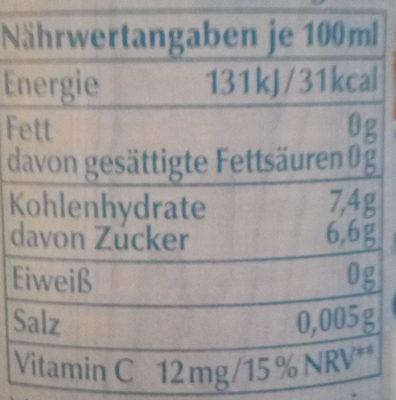 Lübzer Grapefruit Alkoholfrei - Nährwertangaben