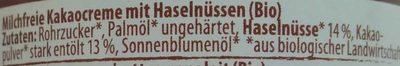 Bio Nuss Nougat Creme - Ingredients
