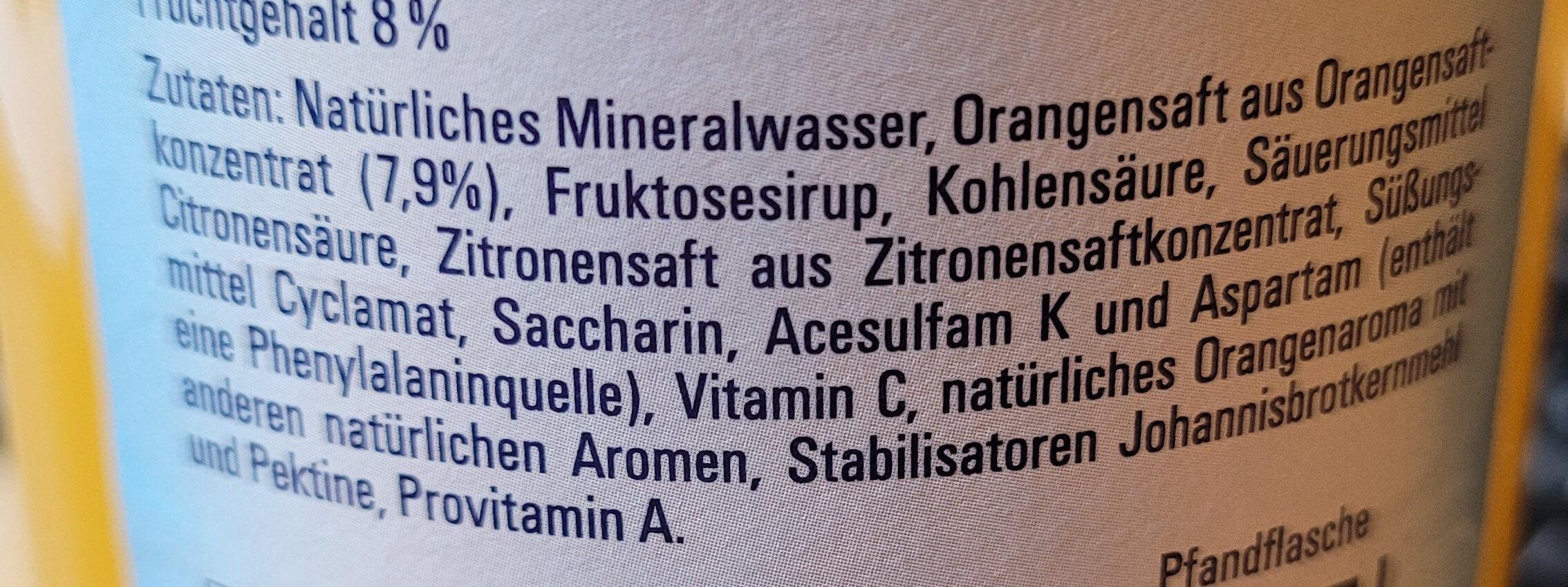 Vital Orange - Zutaten - de