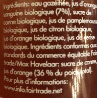 Lemonaid Orange Sanguine - Ingrediënten - fr