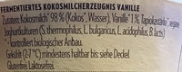 Coconut Milk Yoghurt Alternative Vanille - Ingrediënten - de