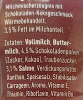 Müllermlich Shake Chocolate Cookies & Cream Geschmack - Ingredients
