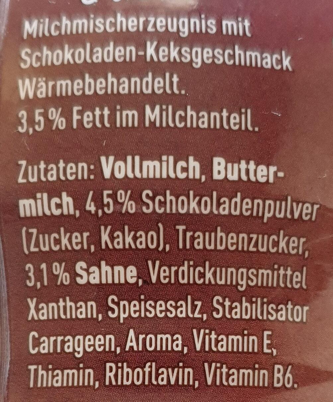 Müllermlich Shake Chocolate Cookies & Cream Geschmack - Inhaltsstoffe - de