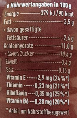 Müllermlich Shake Chocolate Cookies & Cream Geschmack - Nutrition facts