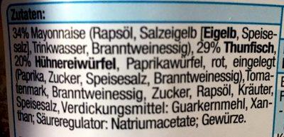 Thunfisch Salat - Inhaltsstoffe