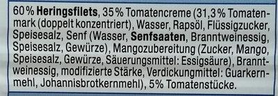 Heringsfilet Tomaten-Creme - Ingrédients