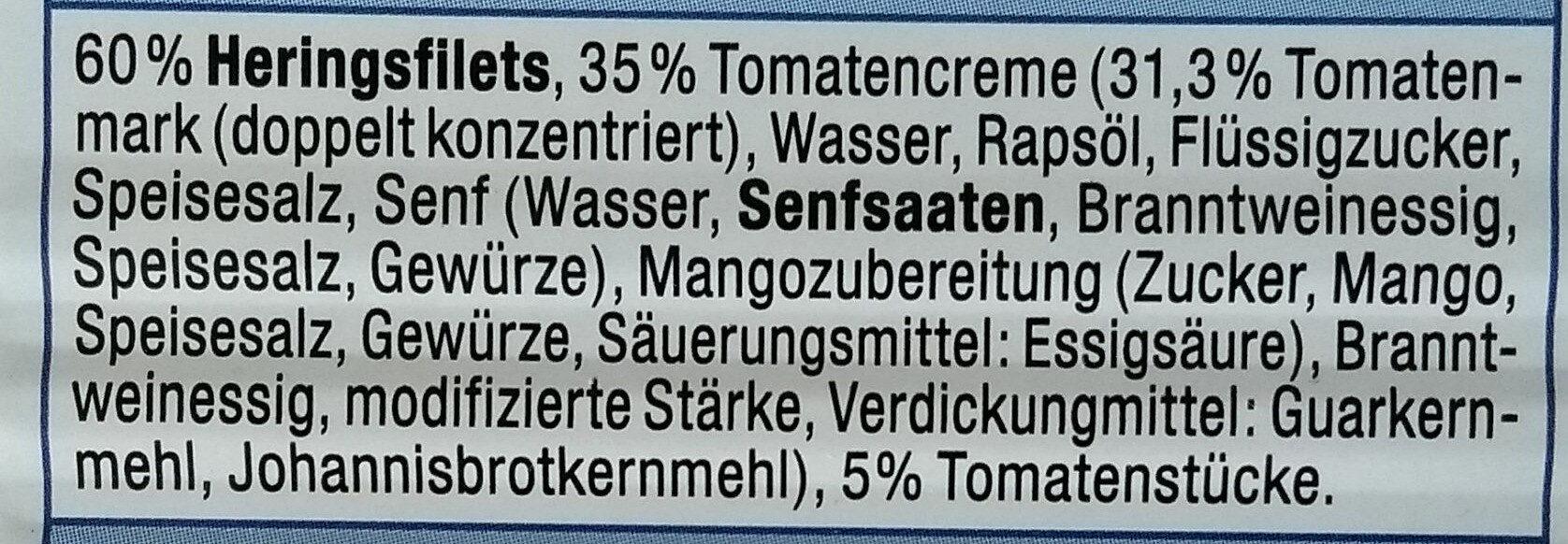 Heringsfilet Tomaten-Creme - Ingrédients - de
