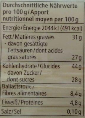 Kokos - Informazioni nutrizionali - de