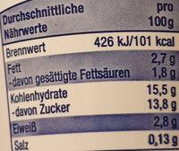 Gourmet Fruchtjoghurt Erdbeere - Nährwertangaben