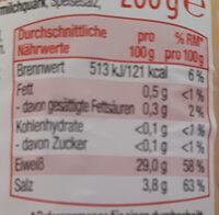 Harzer Käse mit Kümmel - Nutrition facts - de