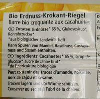 Erdnuss krokant - Ingrédients - fr