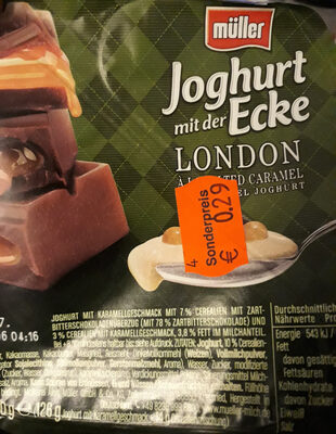 Joghurt mit der Ecke London Salted caramel - Produit
